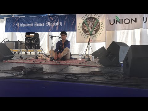 Ved Sheth performing live at the 2017 Richmond Folk Festival