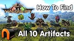 ARK VALGUERO Artifacts How to Get All 10 Valguero Artifacts!