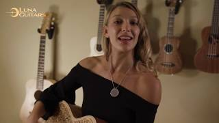 Henna Oasis Select Spruce by Luna Guitars Feat. Luna Artist Carly Jo Jackson