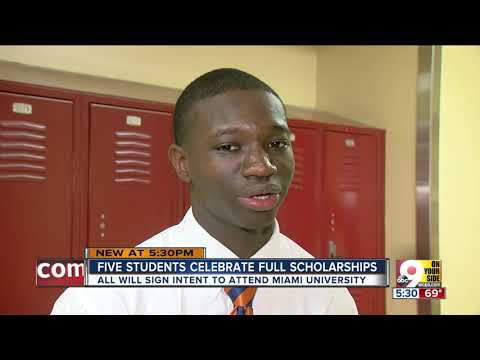 Five Cincinnati Public Schools students celebrate full scholarships