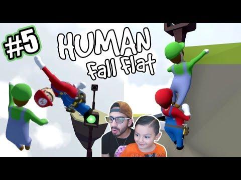 Karim En Mundo De Plastilina | Super Mario En Human Fall Flat | Juegos Karim Juega