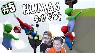 Karim en Mundo de Plastilina   Super Mario en Human Fall Flat   Juegos Karim Juega