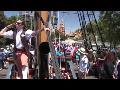 The Sailing Ship Columbia Returns to Disneyland, Tour the New Rivers of America, 7-29-17, in 4K