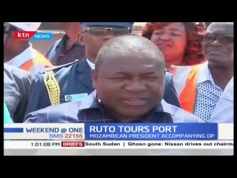 Ruto tours port accompanied by Mozambican president