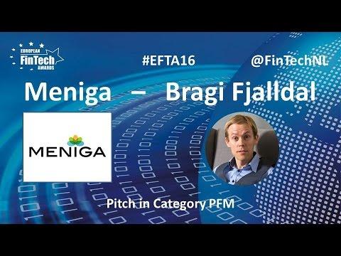 Meniga Pitch by Bragi Fjalldal in PFM category at European FinTech Awards 2016