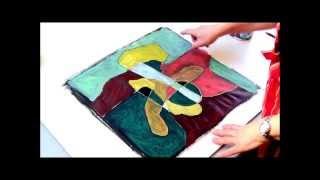 Acrylmalerei Abstrakt Ein Bild Verandert Sich Speed Demo Youtube
