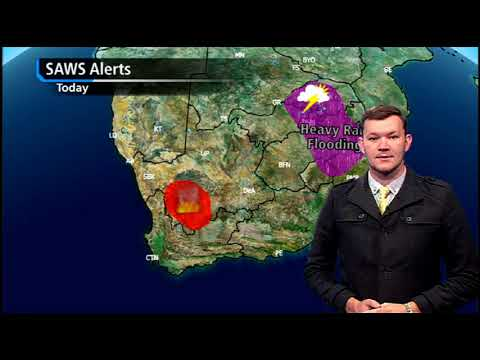 South African Weather Service issues flood warning