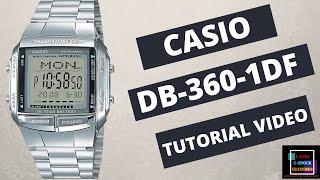 Casio DB-360-1ADF   Data Bank WATCH   CASIO VINTAGE STEEL