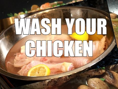 How To wash your CHICKEN WITH apple cider vinegar & lemon | Chef Ricardo Cooking Shows