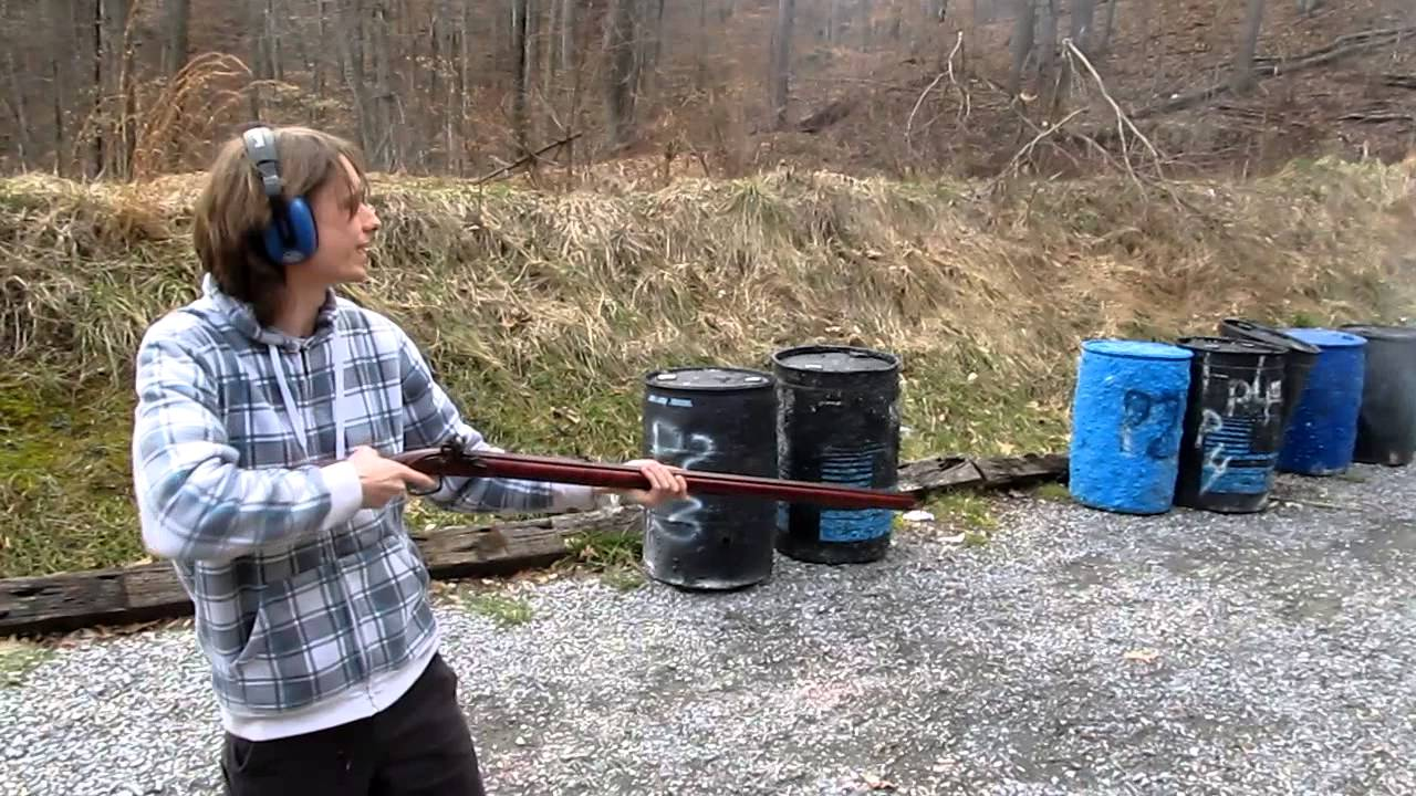 Joe Fires the Flintlock Tennessee Mountain Rifle