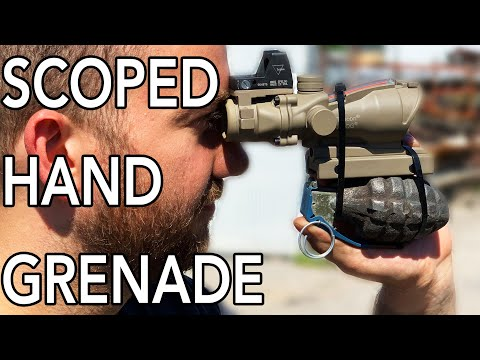 Grenade and Scope Cut in Half with 60000 PSI Waterjet