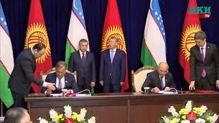 Церемония подписания совместных документов А.Атамбаевым и Ш.Мирзиеевым