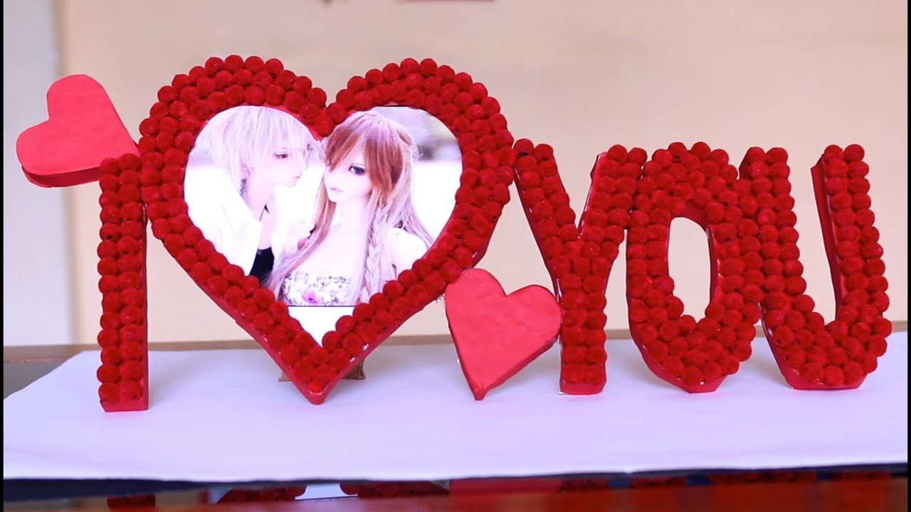Heart Photo frame || DIY || love photo frame - YouTube