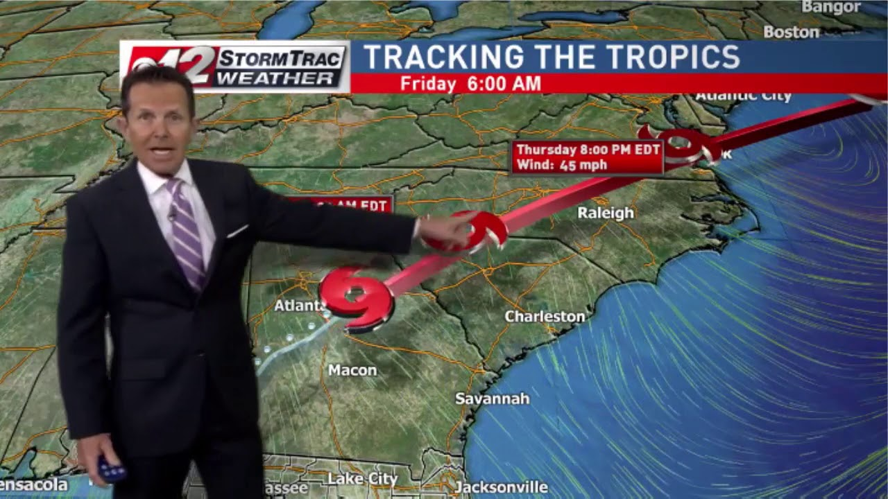 Tropical Storm Michael moves inland overnight (WPEC-CBS12