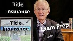 40 Title Insurance: Arizona Real Estate License Exam Prep
