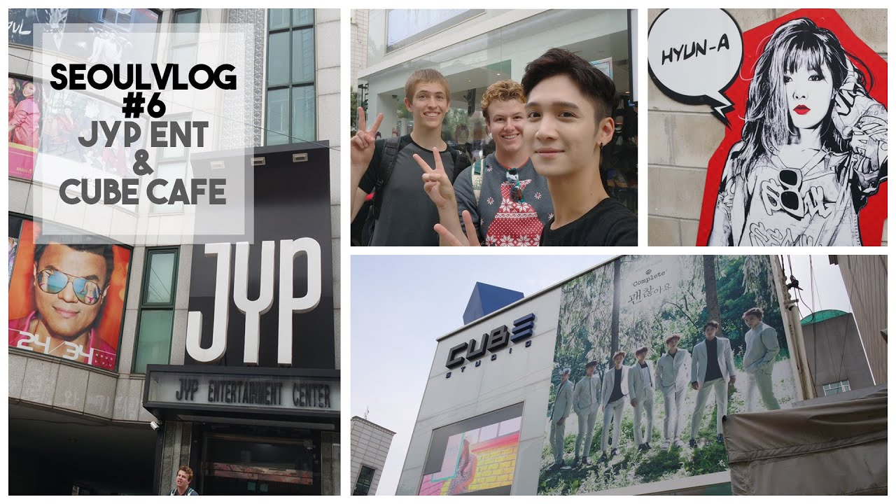 JYP Entertainment & Cube Cafe || Vlog