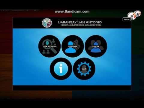 Barangay San Antonio Resident and Blotter Record Management System