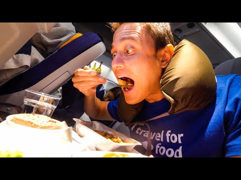 Lufthansa Airlines FOOD REVIEW - 40 Hour Trip from Bangkok t