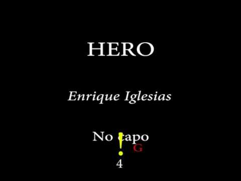 HERO- ENRIQUE IGLESIAS -Easy Chords And Lyrics