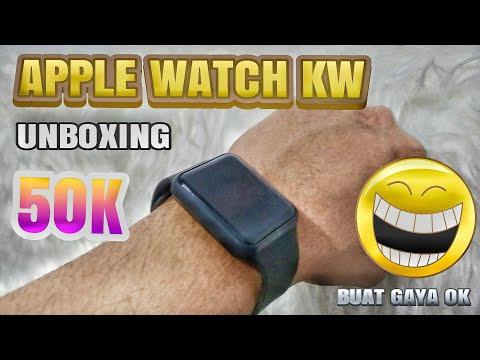 APPLE WATCH KW+ (UNBOXING) Jam LED Anak Jaman Now 50K