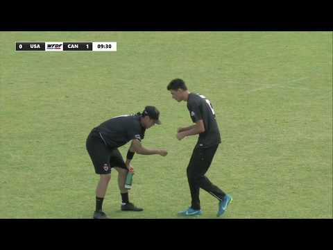 WFDF World Under 24 Ultimate Championship: QF USA VS CAN - Mens