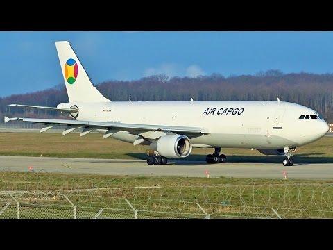 [FullHD] *Air Cargo Mongolia livery* EAT Airbus A300-600(F) takeoff at Geneva/GVA/LSGG