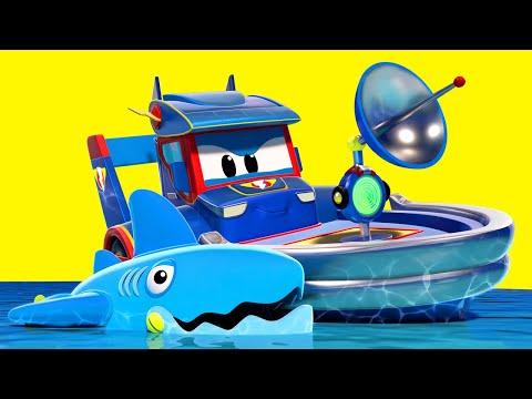 Phim hoạt hình về xe tải dành cho thiếu nhi -  Có CÁ MẬP trên sông - Thành phố xe hơi
