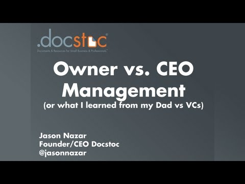 Owner vs. CEO Management