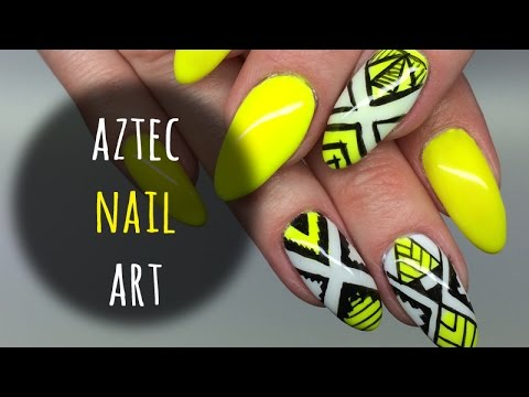 aztec nail art azteckie zdobienie