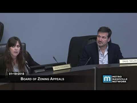 01/18/18 Board of Zoning Appeals