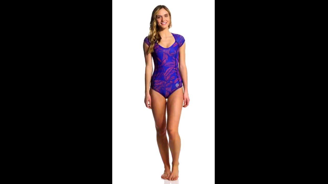 035fbd4307b Roxy Pop Surf Polynesia One Piece S S Swimsuit