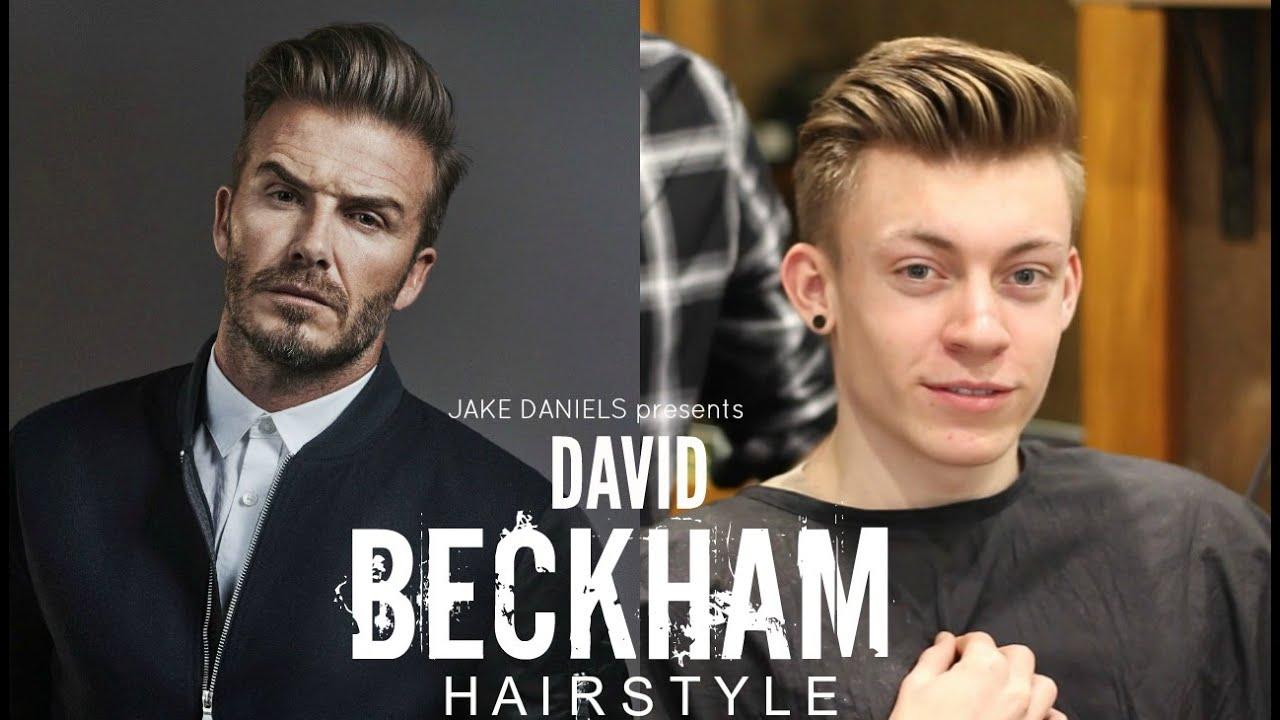 david beckham hairstyle tutorial - mens hair 2018 | jake daniels