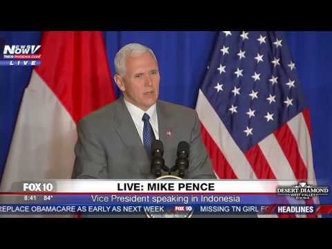 WATCH: Mike Pence Holds Press Conference In Indonesia