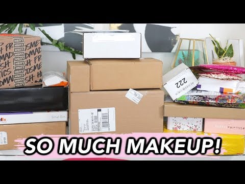 BIGGEST PR UNBOXING HAUL EVER! | SO MUCH NEW MAKEUP! thumbnail