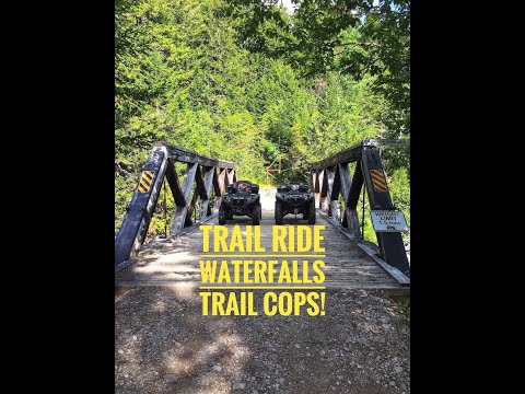 Sussex ATV Rally: Amazing Trails, Waterfalls, & Stopped by Trail Cops !