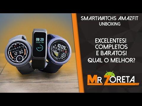 AMAZFIT VERGE x VERGE LITE x COR 2 - Os melhores smartwatchs da Xiaomi! Qual comprar? Unboxing