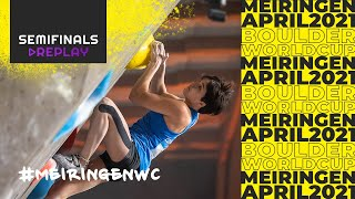 IFSC Boulder World Cup Meiringen 2021 || Men's and women's semi-finals