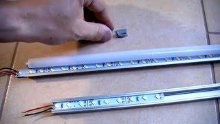 Алюминиевый профиль для LED ленты(Обзор алюминиевого профиля нескольких производителей. Плюсы и минусы, различия. Комплектность. Обзор ленты..., 2016-04-22T10:18:25.000Z)