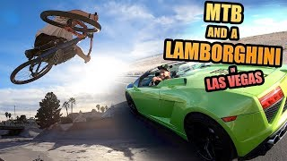 RIDING MTB AND DRIVING A LAMBORGHINI IN LAS VEGAS