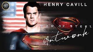 SUPERMAN Man Of Steel | Henry Cavill | Digital Painting