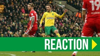 Norwich City 1-0 Middlesbrough: Tom Trybull Reaction
