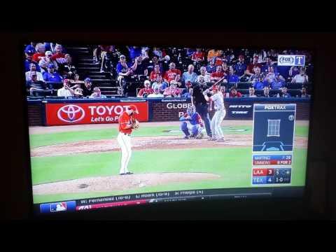 Texas Rangers Martinez with the ninja catch!