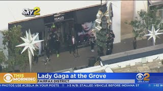Hundreds Line Up To Get Into Lady Gaga's Makeup Pop-Up Shop At The Grove