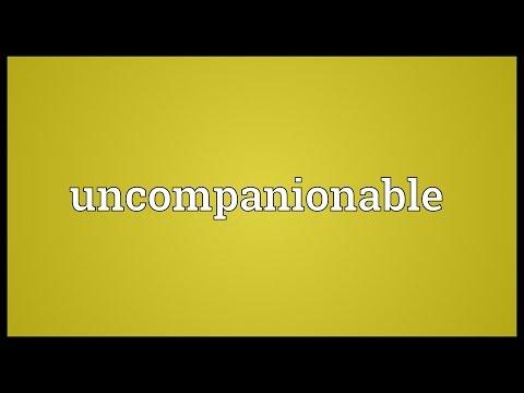 Header of uncompanionable