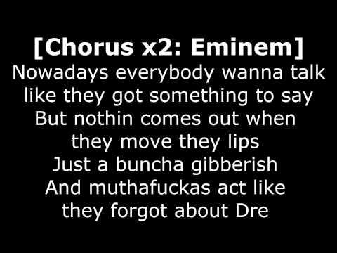 Dr Dre - Forgot About Dre ft. Eminem Lyrics [320kbps HQ audio & HD 1080p]