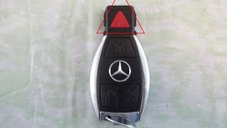 mercedes key fob battery change replacement chrome key by mercedesmedic com chrome triangle panic