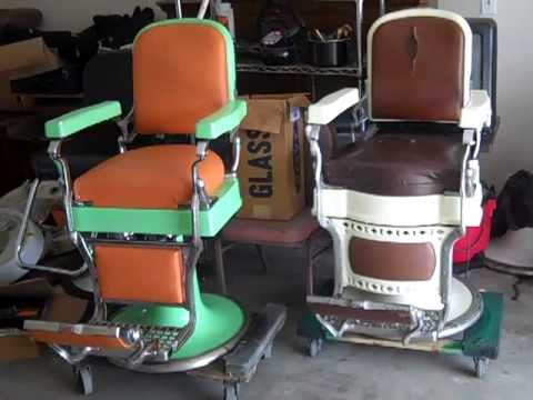 Used Barber Chairs For Sale Monoblock Chair Covers Rent Antique Ethen Allen China Cabinet - Youtube