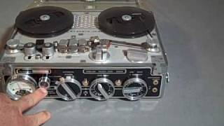 Nagra III #8607  analog tape recorder demonstration