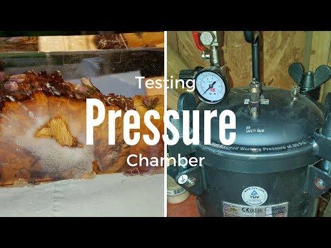 Testing resin pressure chamber.
