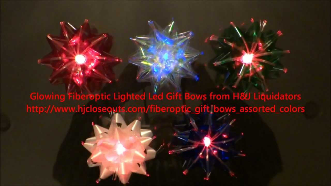 amazing glowing bows led fiberoptic lighted bows for christmas use your imagination